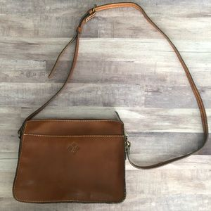 Patricia Nash Brown Leather Crossbody Bag